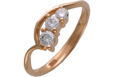 Золотое кольцо Ювелирное изделие 01K613665
