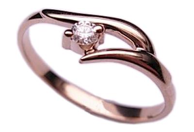 Золотое кольцо Ювелирное изделие 01K614068