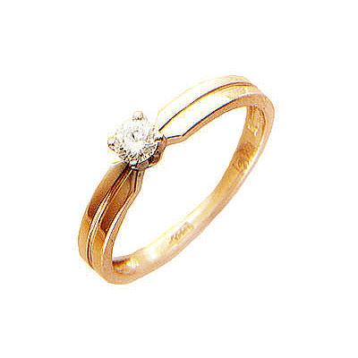 Золотое кольцо Ювелирное изделие 01K614406