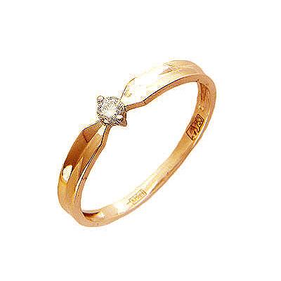 Золотое кольцо Ювелирное изделие 01K614408