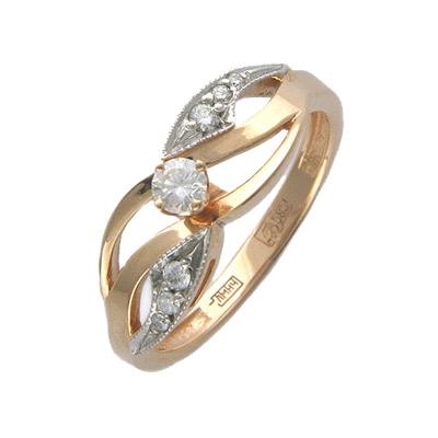 Золотое кольцо Ювелирное изделие 01K615052 золотое кольцо ювелирное изделие 01k673574l