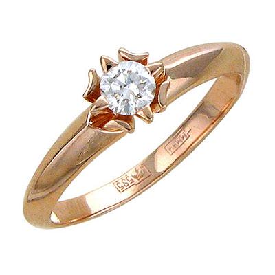 Золотое кольцо Ювелирное изделие 01K615125