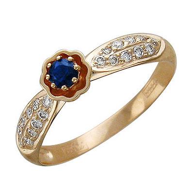 Золотое кольцо Ювелирное изделие 01K615181