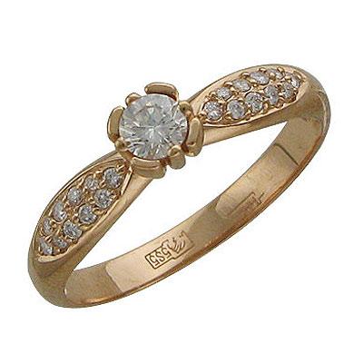 Золотое кольцо Ювелирное изделие 01K615183