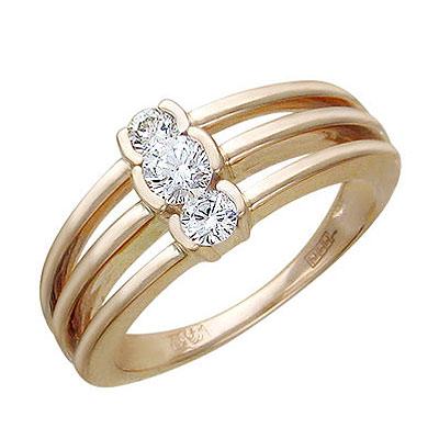 Золотое кольцо Ювелирное изделие 01K615529