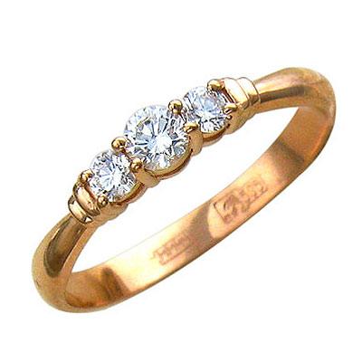Золотое кольцо Ювелирное изделие 01K615584