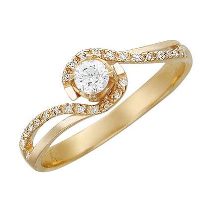 Золотое кольцо Ювелирное изделие 01K615752