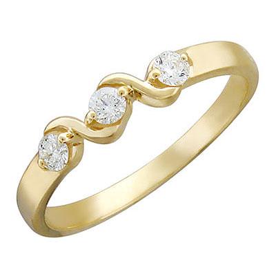 Золотое кольцо Ювелирное изделие 01K615820
