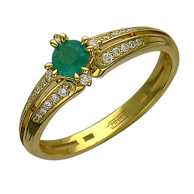 Золотое кольцо Ювелирное изделие 01K615931