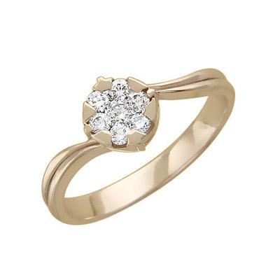 Золотое кольцо Ювелирное изделие 01K616318 золотое кольцо ювелирное изделие 01k673574l