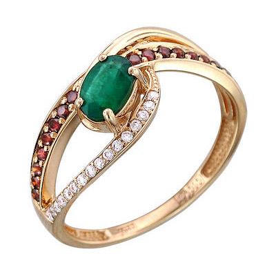 Золотое кольцо Ювелирное изделие 01K616908 коньячный набор