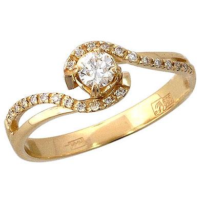 Золотое кольцо Ювелирное изделие 01K635752 matrix 35020