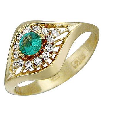 Золотое кольцо Ювелирное изделие 01K635853