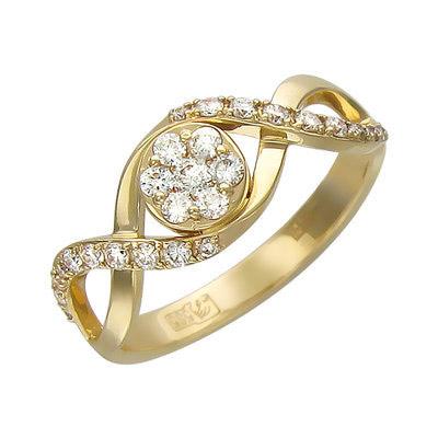 Золотое кольцо Ювелирное изделие 01K636019
