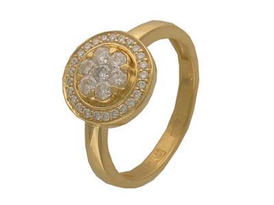 Золотое кольцо Ювелирное изделие 01K643019Z золотое кольцо ювелирное изделие 96252