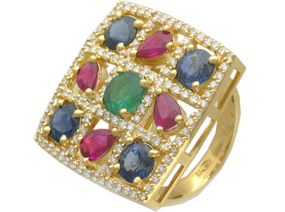 Золотое кольцо Ювелирное изделие 01K643069 кресло tetchair runner кож зам ткань черный красный 36 6 tw 08 tw 12