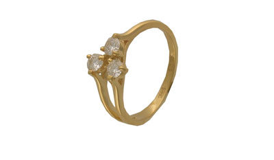 цена на Золотое кольцо Ювелирное изделие 01K643141