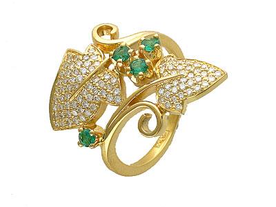 Золотое кольцо Ювелирное изделие 01K643272