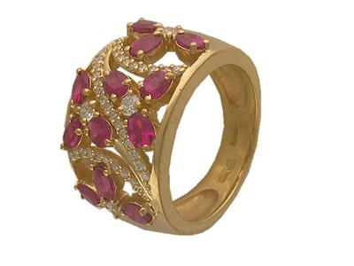 Золотое кольцо Ювелирное изделие 01K643348