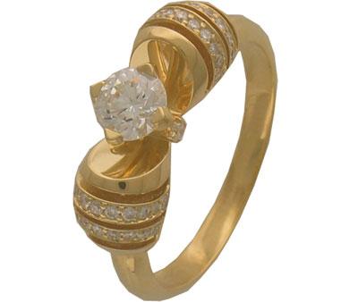 Золотое кольцо Ювелирное изделие 01K643483
