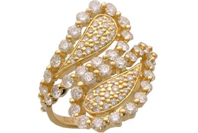 Золотое кольцо Ювелирное изделие 01K643513