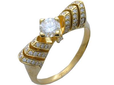 Золотое кольцо Ювелирное изделие 01K643576 золотое кольцо ювелирное изделие 01k643576