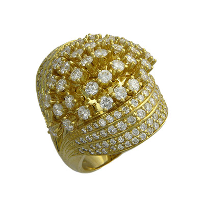 Золотое кольцо Ювелирное изделие 01K643595 золотое кольцо ювелирное изделие 01k673574l