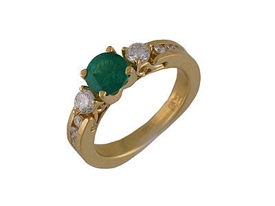 Золотое кольцо Ювелирное изделие 01K643648