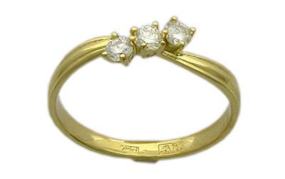 Золотое кольцо Ювелирное изделие 01K643856