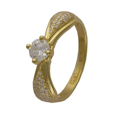 Золотое кольцо Ювелирное изделие 01K643938
