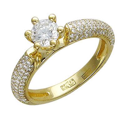 Золотое кольцо Ювелирное изделие 01K644146