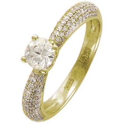 Золотое кольцо Ювелирное изделие 01K644195