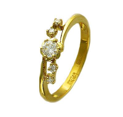 Золотое кольцо Ювелирное изделие 01K644418