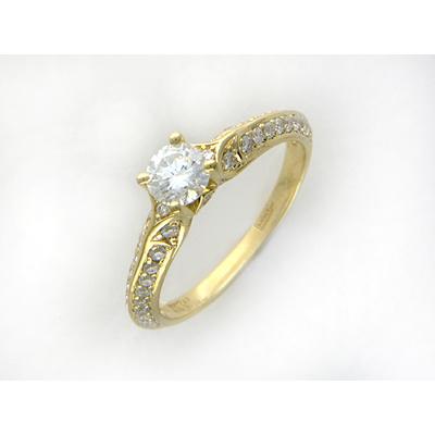 Золотое кольцо Ювелирное изделие 01K644631 punk style solid color hollow out ring for women