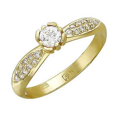 Золотое кольцо Ювелирное изделие 01K645183