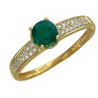 Золотое кольцо Ювелирное изделие 01K645248
