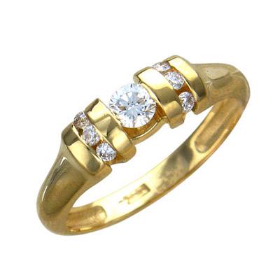 Золотое кольцо Ювелирное изделие 01K645530