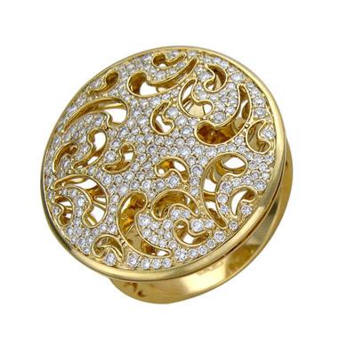 Золотое кольцо Ювелирное изделие 01K645637 золотое кольцо ювелирное изделие 01k673574l