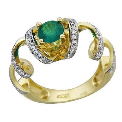 Золотое кольцо Ювелирное изделие 01K646209
