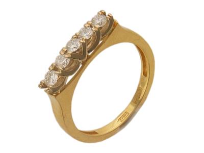 Золотое кольцо Ювелирное изделие 01K663068 золотое кольцо ювелирное изделие 01k673574l