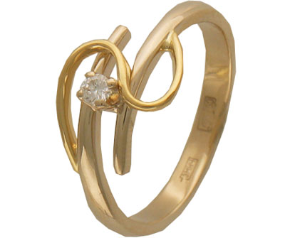 Золотое кольцо Ювелирное изделие 01K663215