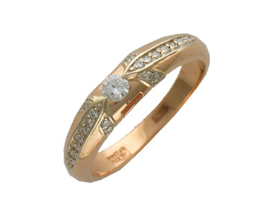 Золотое кольцо Ювелирное изделие 01K663640 золотое кольцо ювелирное изделие 96252