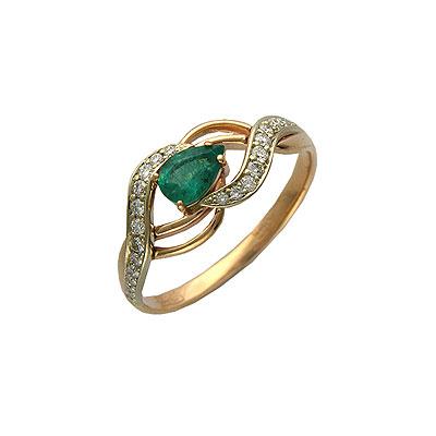 Золотое кольцо Ювелирное изделие 01K664567