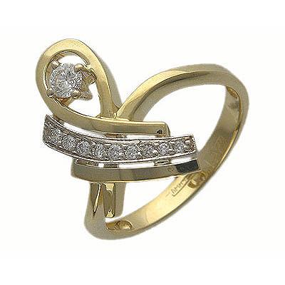 Золотое кольцо Ювелирное изделие 01K665051