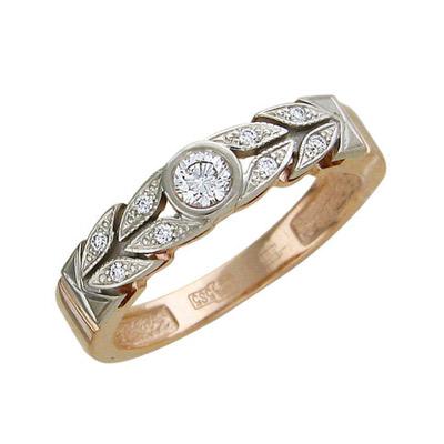 Золотое кольцо Ювелирное изделие 01K665527