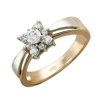 Золотое кольцо Ювелирное изделие 01K666073 цена