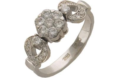 Золотое кольцо Ювелирное изделие 01K672965Z ремешок для часов yg ycs410gx 17 19