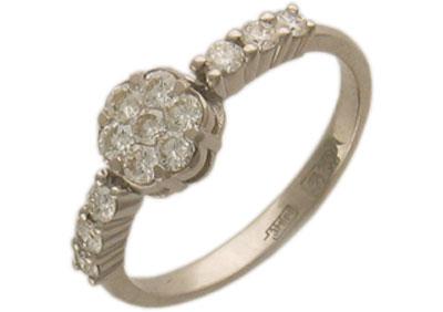 Золотое кольцо Ювелирное изделие 01K673018Z холодильник lg ga b409umda