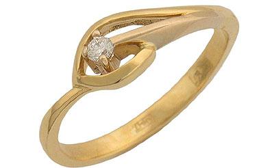 Золотое кольцо Ювелирное изделие 01K682901