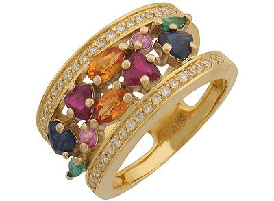 Золотое кольцо Ювелирное изделие 01K682902 стразы knorr prandell swarowski для аппликатора по текстилю цвет сапфир 42 шт